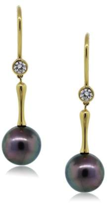 Tiffany & Co. Tahitian Pearl And Diamond Drop Dangle Earrings