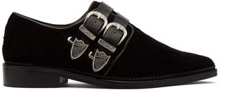 Toga Corduroy double-buckle loafers