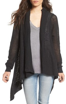 Roxy 'Hollow Love' Drape Cotton Cardigan $59.50 thestylecure.com