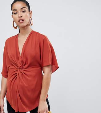 Asos DESIGN Maternity twist front kimono sleeve top