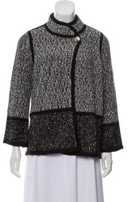 Karl Lagerfeld Paris Knit Mock Neck Cardigan Black Knit Mock Neck Cardigan