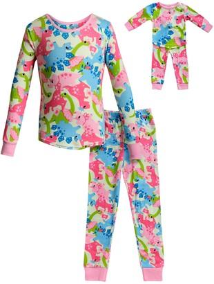 Dollie & Me Girls 4-14 Top & Bottoms Pajama Set & Matching Doll Pajama Set
