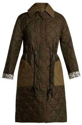 Altuzarra Creedence Reversible Quilted Parka - Womens - Dark Green
