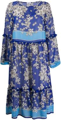 P.A.R.O.S.H. floral print flared dress