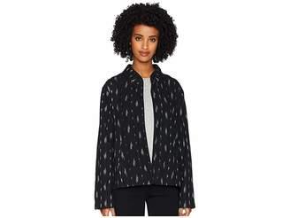 Eileen Fisher Organic Cotton Mandarin 3/4 Sleeve Short Jacket Women's Coat