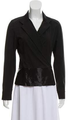 Narciso Rodriguez Embellished Long Sleeve Blazer