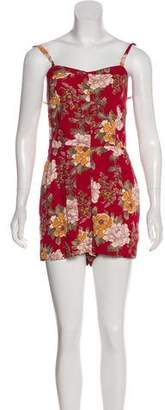 Reformation Floral Print Romper w/ Tags