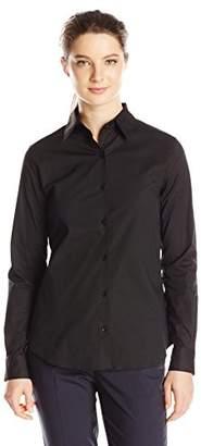 Dickies Juniors Long Sleeve No Pocket Button Front Shirt