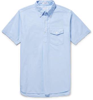 Engineered Garments Button-Down Collar Cotton Oxford Half-Placket Shirt