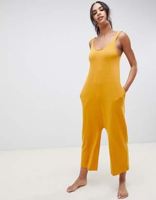 Asos DESIGN premium lounge knitted drop crotch jumpsuit