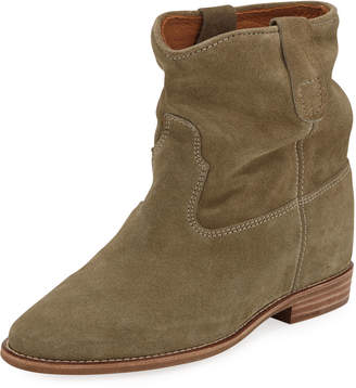 Isabel Marant Crisi Western Suede Flat Bootie