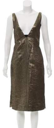 Diane von Furstenberg Chastity Metallic Dress w/ Tags