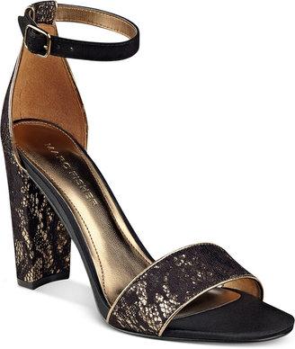 Marc Fisher Factor Block-Heel Dress Sandals $79 thestylecure.com