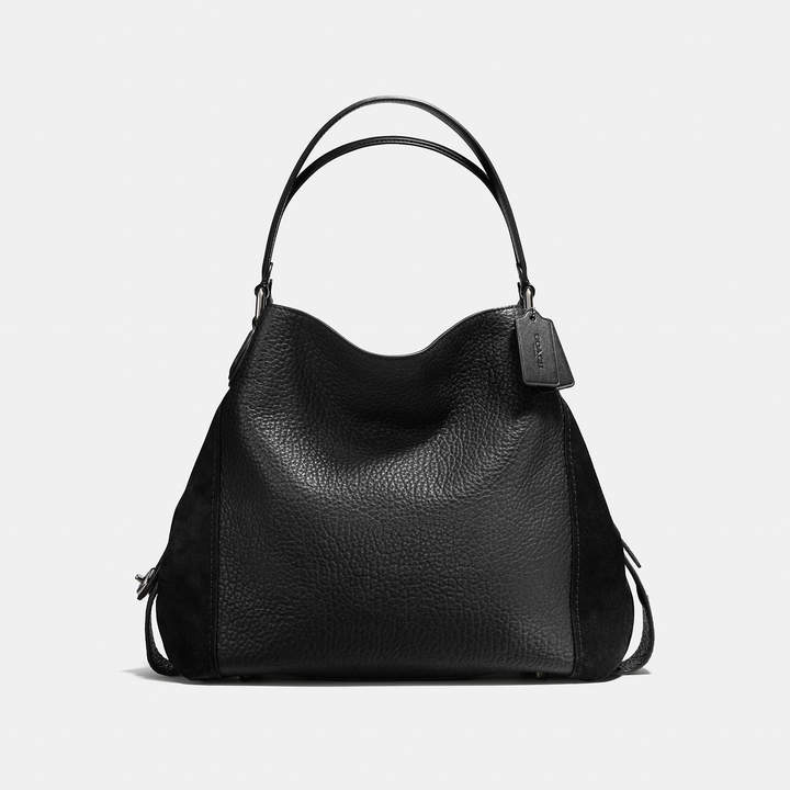 Coach  COACH Coach Edie Shoulder Bag 42 In Mixed Leathers
