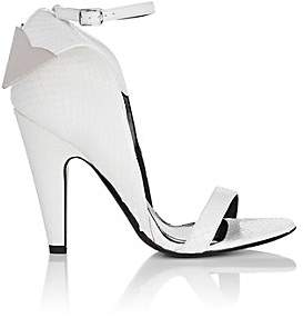 Calvin Klein Women's Leititia Python Sandals-White
