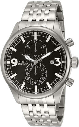 Invicta 0365 Black & Silver-Tone Specialty Watch