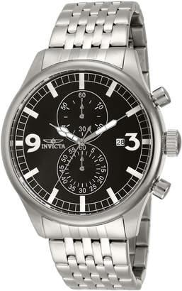 Invicta 0365 Black & Silver-Tone Specialty Watch