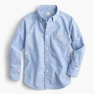 J.Crew Kids' critter oxford shirt in outer space