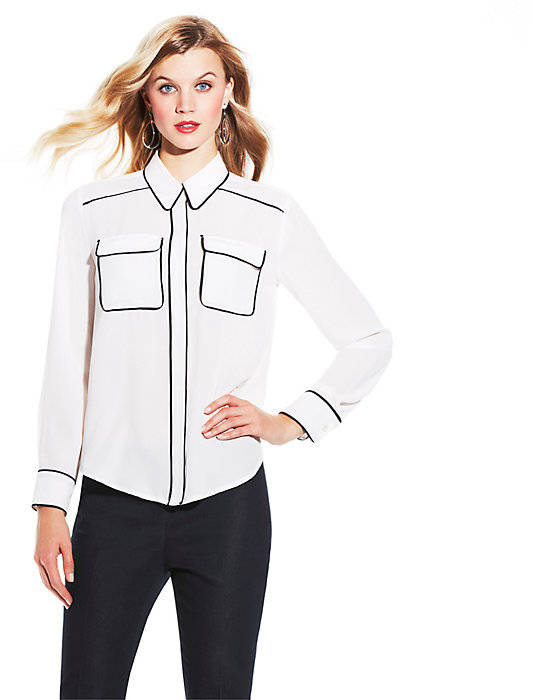 Vince Camuto Two Pocket Blouse