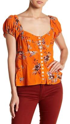 Free People Close to You Floral Blouse