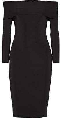 Alexander Wang Off-The-Shoulder Stretch-Ponte Dress