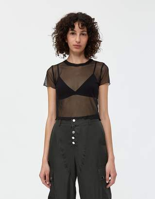 Which We Want Lisa Mesh Tee in Black