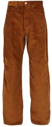 Phipps - Wide Leg Cotton Corduroy Trousers - Mens - Brown