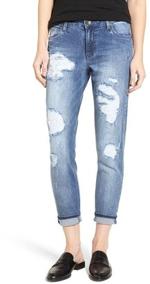 Women's Kut From The Kloth Ripped Boyfriend Jeans $89 thestylecure.com