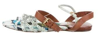 Louis Vuitton Floral Ankle Strap Sandals