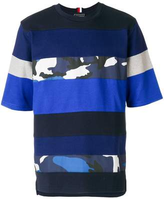 Tommy Hilfiger camo panel T-shirt