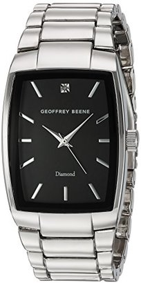 Geoffrey Beene Men 's Quartz Metal and Alloy Dress Watch , Color : silver-toned (モデル: gb8089slbk )