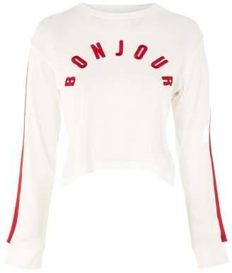 'bonjour' long sleeve top