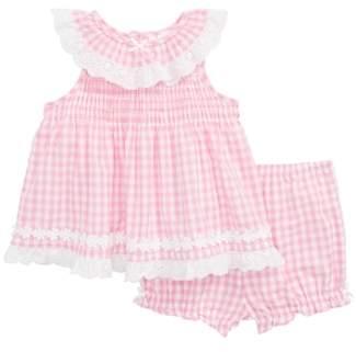 Little Me Gingham Gingham Dress