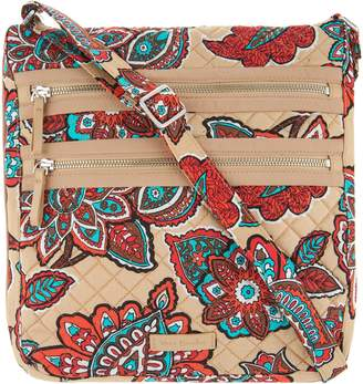 Vera Bradley Iconic Signature Triple Zip Hipster Bag