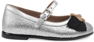 Toddler glitter ballet flat with bee $365 thestylecure.com