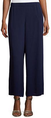 Eileen Fisher Silk Georgette Wide-Leg Pants $258 thestylecure.com
