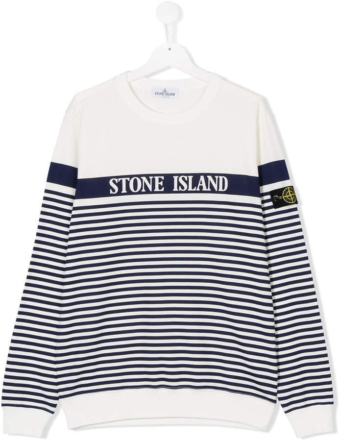 Stone Island Junior TEEN striped sweatshirt