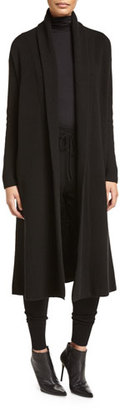 DKNY Cashmere-Blend Maxi Cardigan, Black $1,198 thestylecure.com