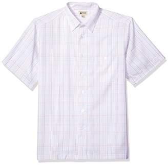 Haggar Men's Short Sleeve Microfiber Woven Shirt