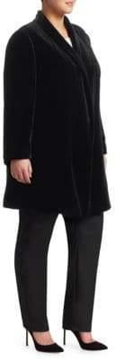 Lafayette 148 New York Lafayette 148 New York, Plus Size Cecily Velvet Long Jacket