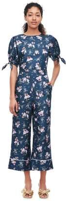 Rebecca Taylor Emilia Print Silk Twill Tie Top