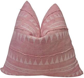 One Kings Lane Vintage Pink Mali Mud Cloth Pillow