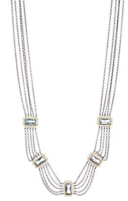Freida Rothman Multi-Chain CZ Embellished Bib Necklace