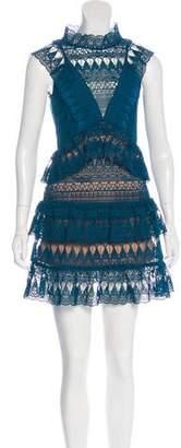Self-Portrait Sleeveless Giuseppe Lace Dress