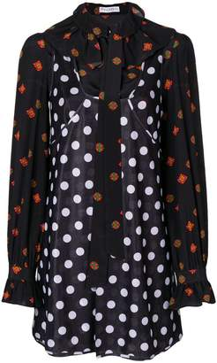 J.W.Anderson polka dot and floral print dress