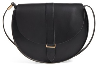 Clare V. Luce Leather Saddle Bag - Black $295 thestylecure.com