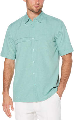 Cubavera Big & Tall Chambray Horizontal Pintuck Shirt