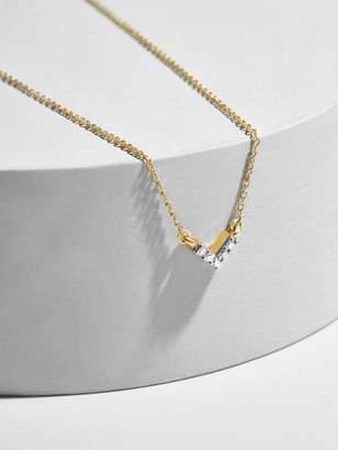 BaubleBar Adina Reyter Super Tiny Pave Diamond V Necklace
