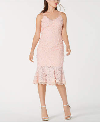 Aidan Mattox Floral-Applique Lace Sheath Dress