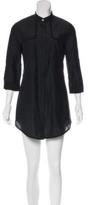 Brunello Cucinelli Long Sleeve Button-Up Dress